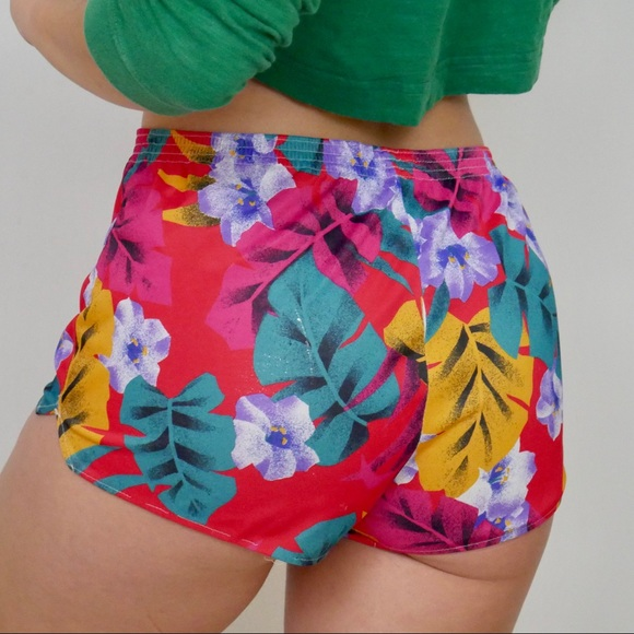 Vintage Pants - ‼️$20 SALE‼️ VTG Hawaiian Polyester Booty Shorts